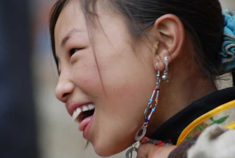 Tibétaine du Sichuan (photo JJDes., 2007)